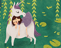 The girl and the unicorn