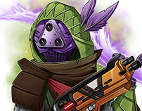 Destiny: The Taken King Class Artwork