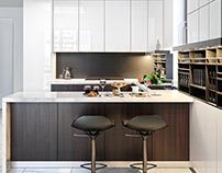 Restrained minimalism. Dining room-Kitchen. (2017)