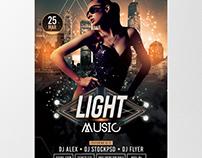 Light Music - Free PSD Flyer Template