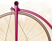 200 years of bicycles illustrations