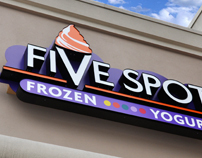 Five Spot Frozen Yogurt Brand Identity