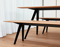 Knikke – foldable bench & table