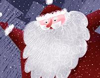 New Year card. Illustration. Digital Art