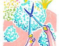 Garden - oil pastel