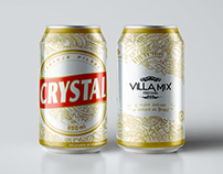 Crystal Beer Label Design for Villa Mix Festival