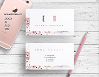 Roses business card template