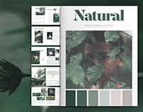 Natural Magazine Layout