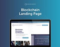 Blockchain Landing Page Redesign