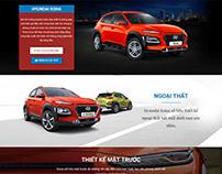 Hyundai Kona Landing page