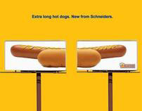Schneiders extra long hot dogs
