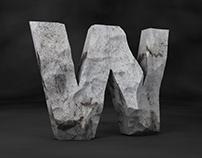 Stone typography
