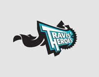 Travis' Heroes Cycling Team Logo Identity Design