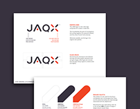 Brand Identity, Style Guide & Website: JAQX