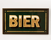 Glass Painting ''Bier''