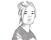 Terapung Float Club Portrait Illustrations