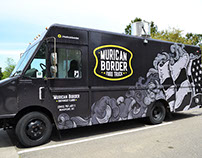 'Murican Border - Food Truck Vehicle Wrap and Branding