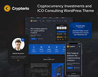 ICO Landing Page WordPress Template