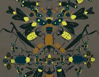 Insekta design for PINKO. textile moodboard