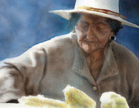 Traditional old woman of Arequipa