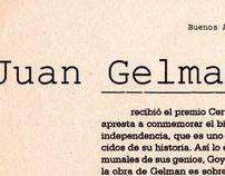 ENTREVISTA. Juan Gelman