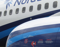 "Corporate identity for an airline ""NORD STAR"""