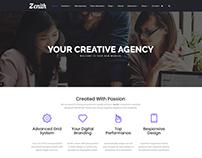 Home-Page - Zenith WordPress Theme