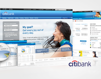 CitiBank Online Consumer Banking Site Redesign
