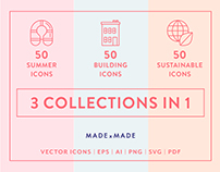 Line Icons – 3 in 1 Collection Bundle