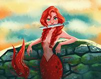 Mermaids. Characters illustration