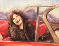 Marc Bolan - Oil Pastel