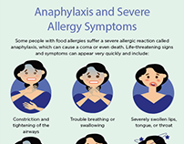 Illustration Anthem Health: Anaphylaxis Symptoms