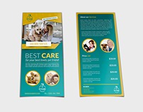 Veterinarian Clinic DL Flyer Template