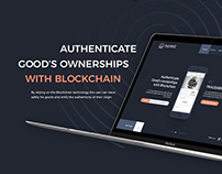 Blockchain app landing page