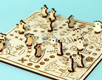 Redesign of an old board game LUDO or ``Don`t be mad!``