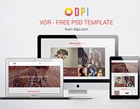 Vor - Free PSD Tempate