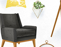 Vector Illustration of Interior Design Objects