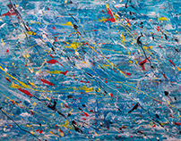 CONSÈQUENCES, ABSTRACT PAINTING BY ALLEN PEDICONE