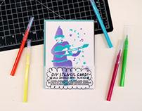 DIY STENCIL CARD !