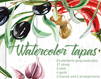 Watercolor tapas