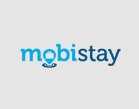 Mobistay Mobile Hotel Booking App Logo Ontwerp / Design