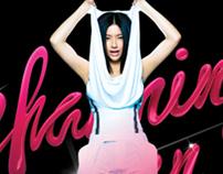 CHARMING WOMAN Album Design.