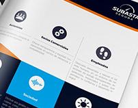 Brochure for Subasta Company