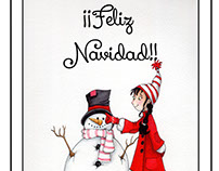 ¡¡Feliz Navidad!! ilustración de Isabel Osma