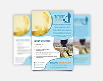 'appy days dog walking logo, flyer, facebook designs