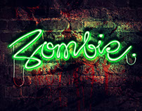 Diseño Neón Zombie