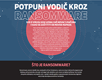 Web page for ransomware