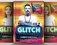 Glitch House Party Flyer Template
