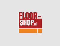 Floorshop.nl Wood Floors Webshop Logo Identity Design