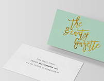 The Beauty Gazette | Logo Design